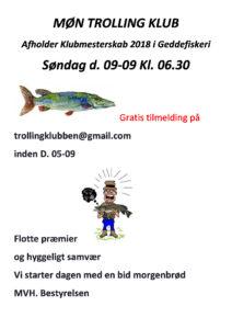 Klubmesterskab i geddefiskeri
